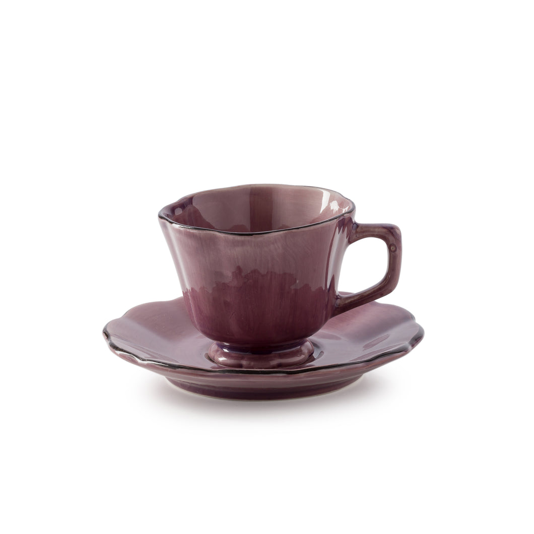 ATTIC cup&saucer (angle handle ∅ 13*7 cm)