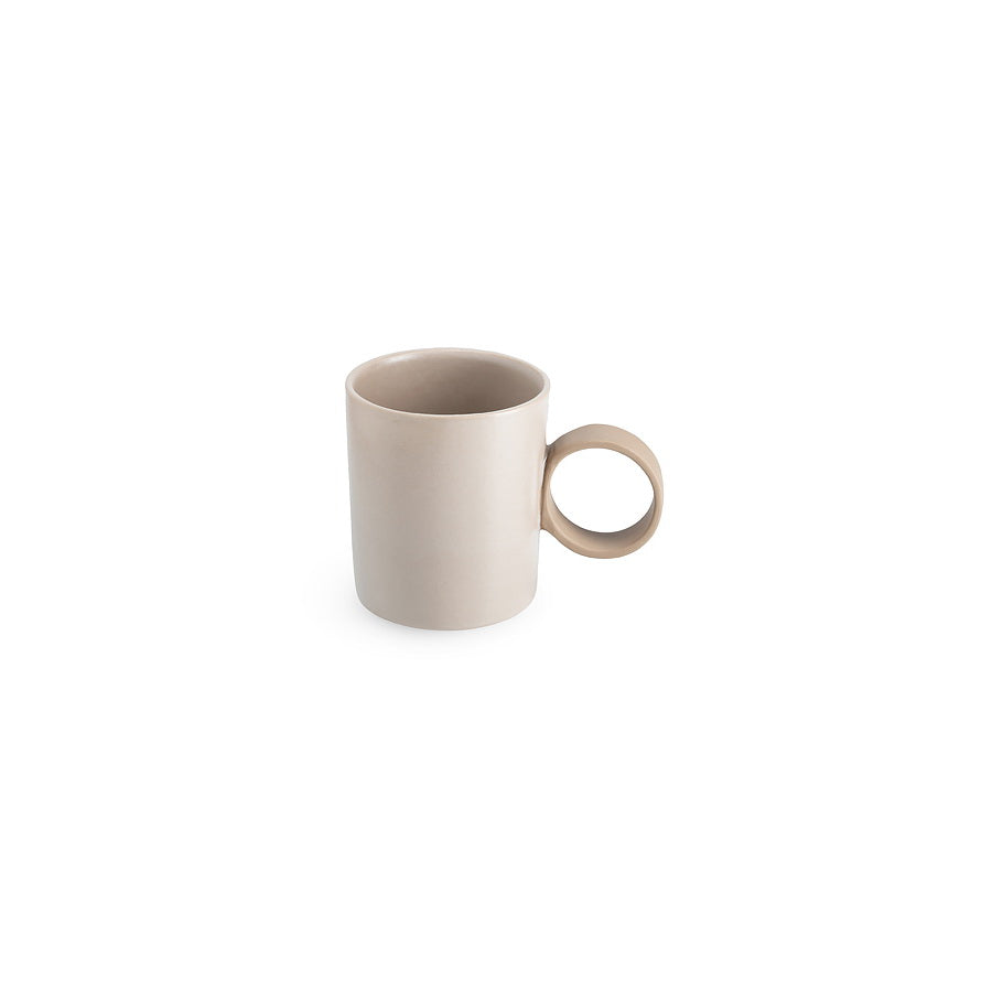 LAB mug frost on brown clay (round handle without line)
