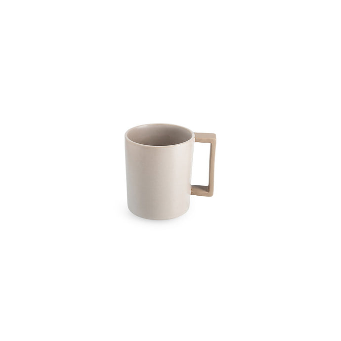LAB mug frost on brown clay (straight handle without line)