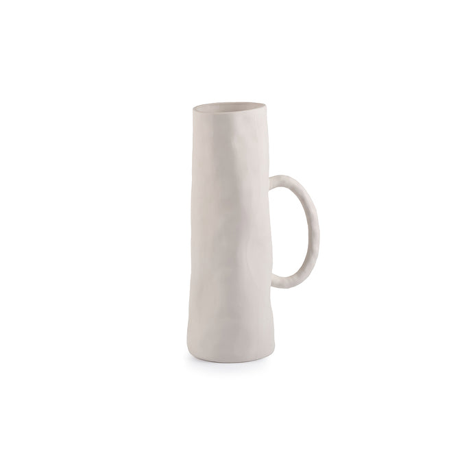PLAIN tall jug/vase (small handle)