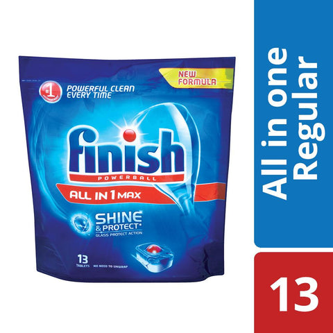 Finish All in One Dishwashing Tablets Regular - 13'S
