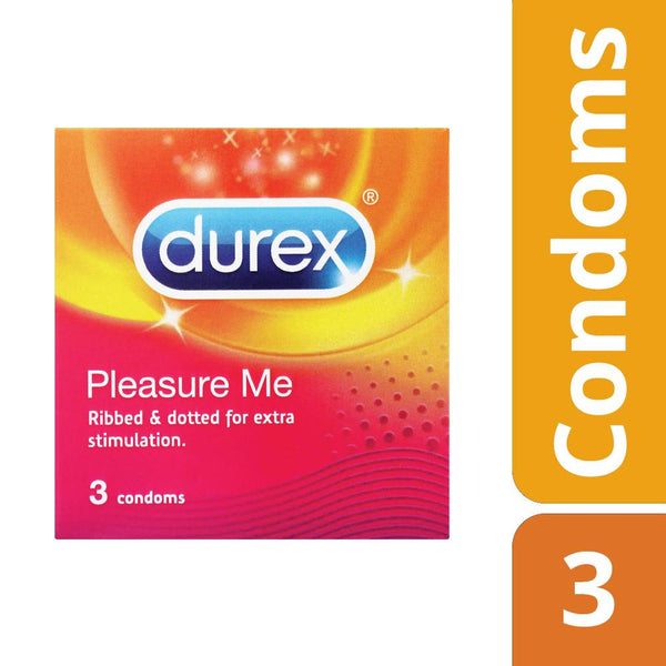 Durex Pleasure Me Condoms 3's