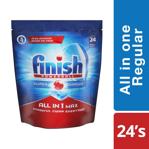 Finish All in One Dishwashing Tablets Regular - 24'S