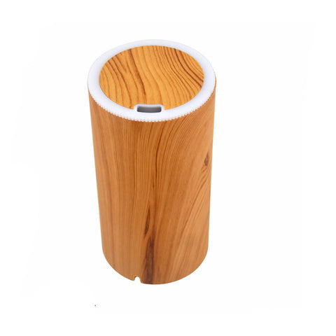LOOVE Peppermint Wood Grain Ultrasonic USB Aromatherapy Essential Oil Diffuser