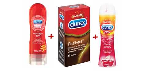 Durex Real Feel, Lube and Gel Combo