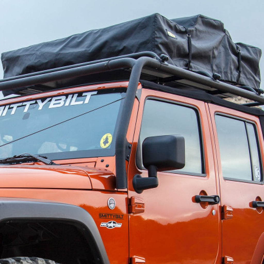 Smittybilt Roof Rack with Tent Lifestyle Image Jeep – ARB Roof Rack Lifestyle Image – Roof Racks North Vancouver, Roof Rack Accessories North Vancouver, ARB Roof Racks North Vancouver, Thule Roof Racks North Vancouver, Front Runner Roof Racks North Vancouver, Yakima Roof Racks North Vancouver, Smittybilt Roof Racks North Vancouver