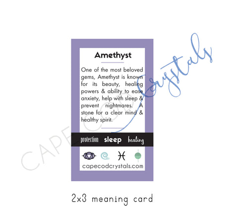 amethyst meaning card