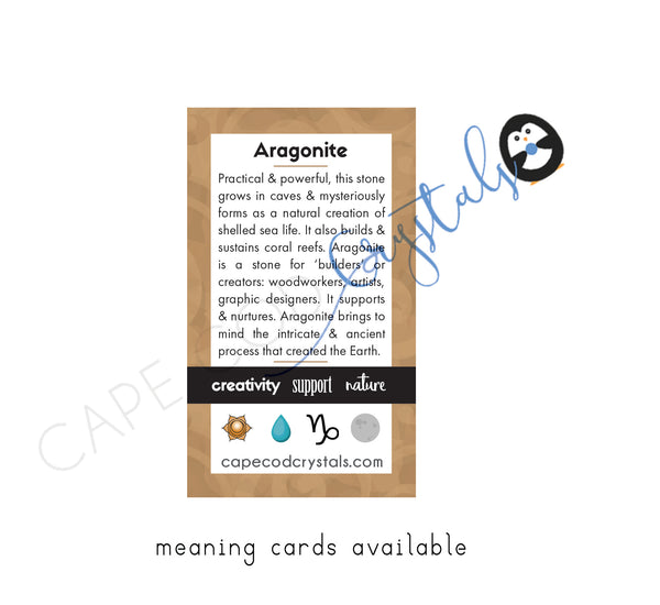 Aragonite Meaning Card