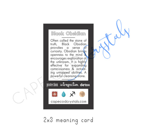 Black Obsidian Meaning Card