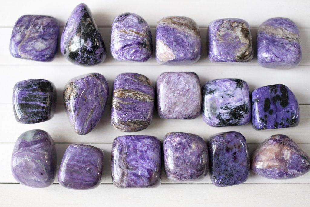 High Grade Charoite Stones by Cape Cod Crystals