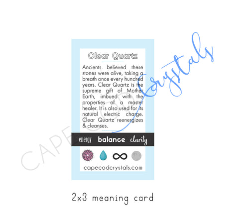 clear quartz meaning card