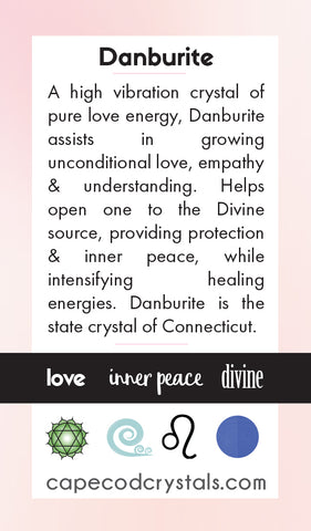 Danburite Meaning Card by Cape Cod Crystals in 2018