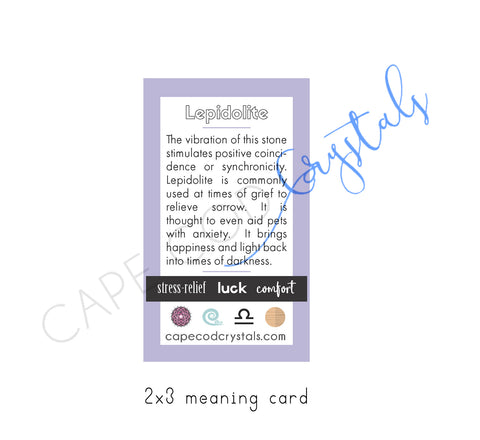 Lepidolite meaning card