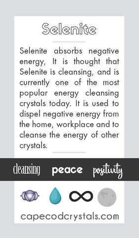 Selenite Meaning Card