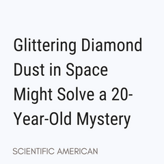 Diamond Space Dust