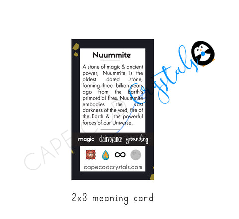 nuummite meaning card