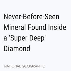 never seen before mineral discovered