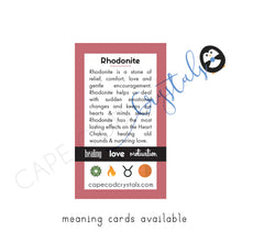 rhodonite meaning card