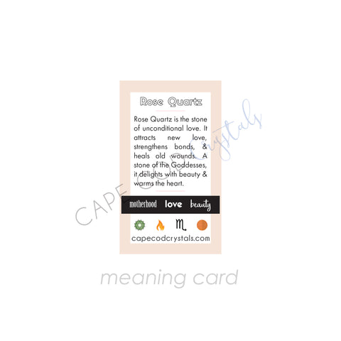 rose quartz meaning card