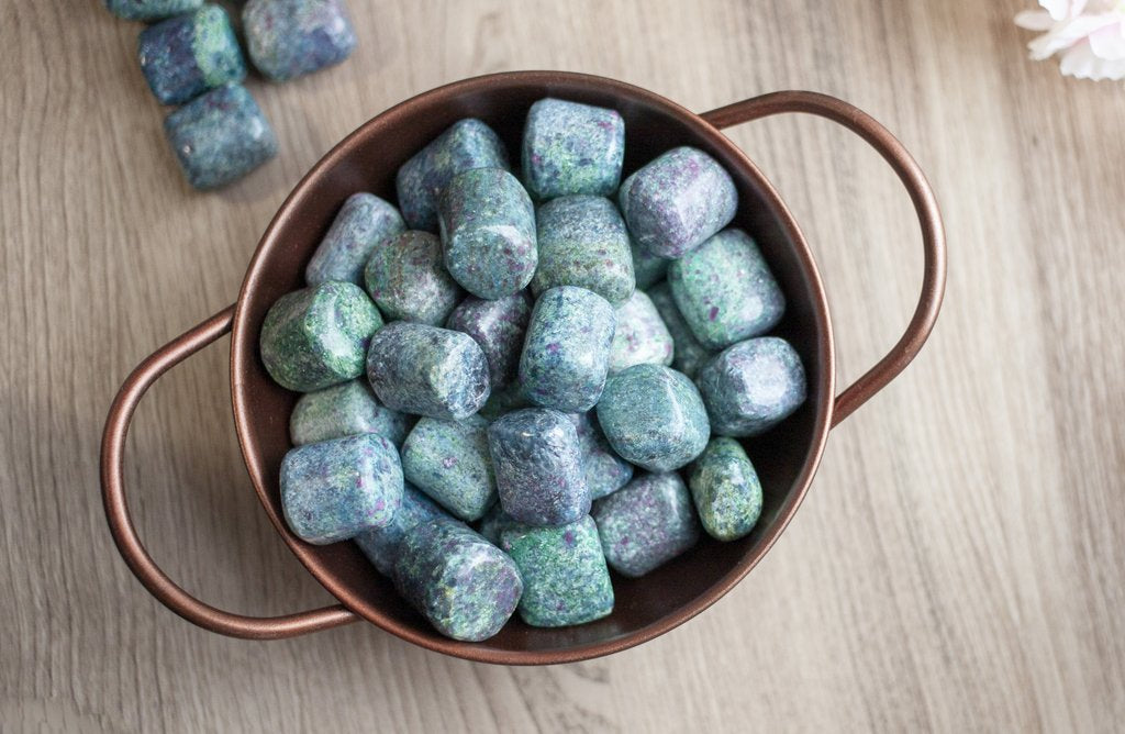 Ruby In Fuchsite Tumbled Stones | Explore the beautiful meaning of Ruby Fuchsite