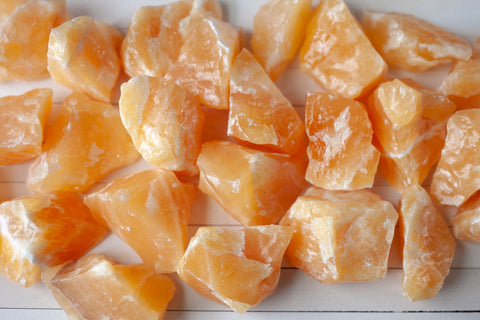 All Calcite has a refreshing energy and cleansing properties. Orange Calcite is thought to be particularly useful for energizing the solar plexus and sacral chakras.