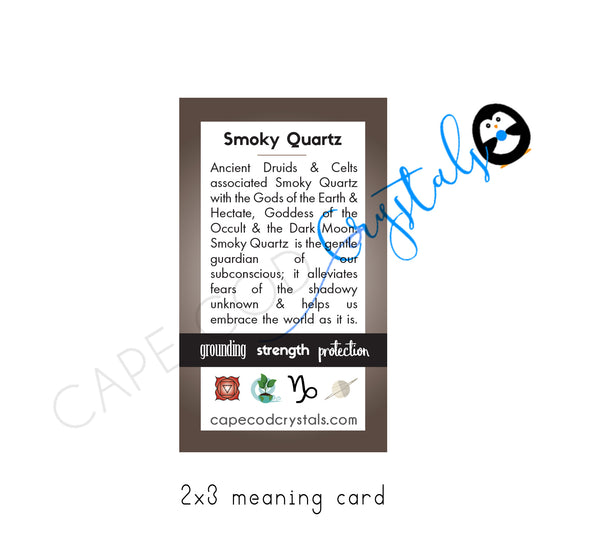 Smoky Quartz Meaning Card