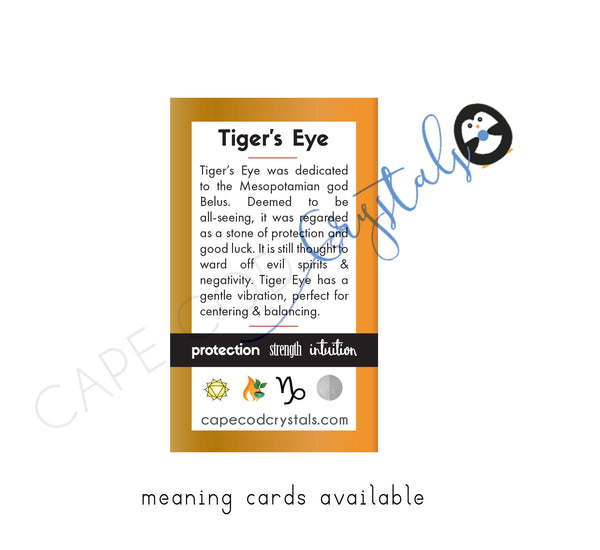 Tiger's Eye Meaning Card