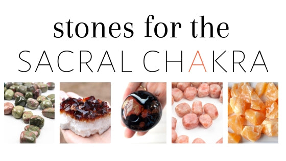 There are many healing stones for the sacral chakra including Unakite, Carnelian, Snowflake Obsidian, Orange Calcite, Red Jasper, Citrine and Sunstone. In general, stones with orange, golden or red-orange color are considered supportive stones for the Sacral Chakra.
