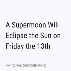 Supermoon Friday the 13th