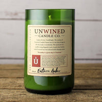 Unwined Candles - Eastern Amber Signature Series - Wine Bottle Candle