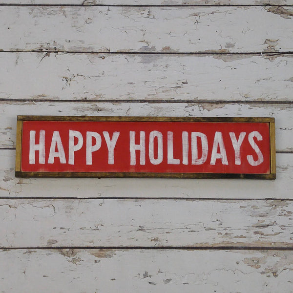 The Green Elephant Shop - Happy Holidays Sign