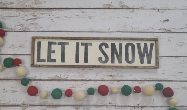 The Green Elephant Shop - Let It Snow Sign