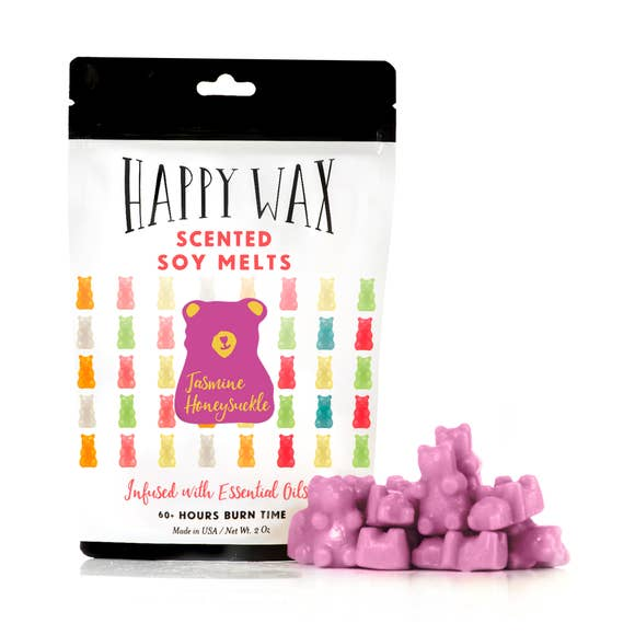 Jasmine Honeysuckle Wax Melts | Pouch of Teddy Bears