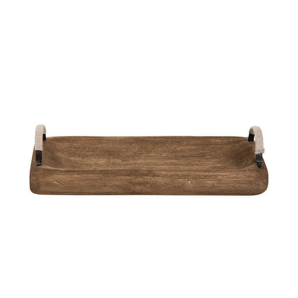 Foreside Home & Garden - Carved Wood Tray