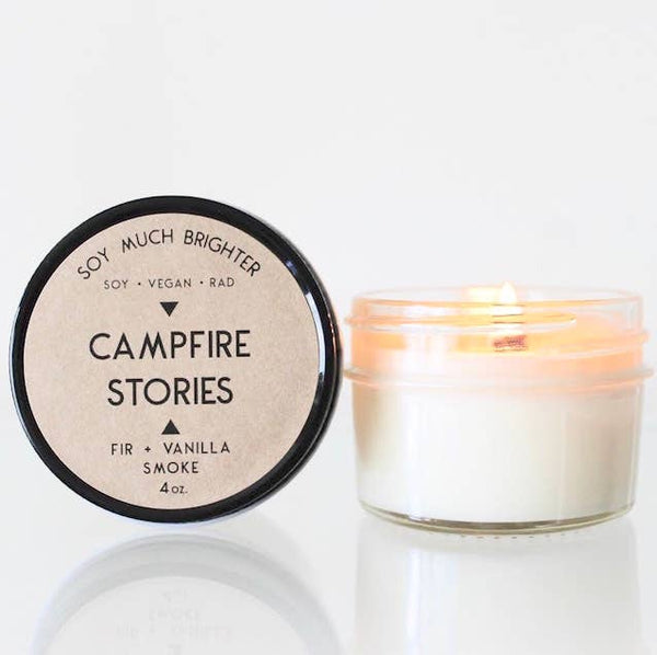 Campfire Stories: Smoke + Vanilla + Fir // 4oz