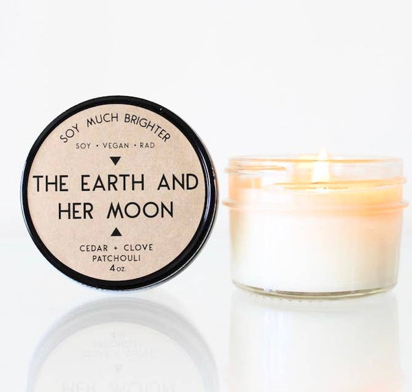 The Earth and Her Moon: Cedar Wood + Patchouli + Clove //4oz