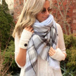 Blanket Scarf, Blue-Gray