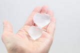 Selenite Hearts  - Small Hearts & Large Hearts, Puffy Hearts