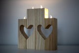 heart cutout candle holders