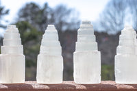 Selenite Towers, 4in White Selenite Crystal Towers