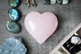 A pink calcite heart makes an unusual, unexpected gift for mom or someone special.