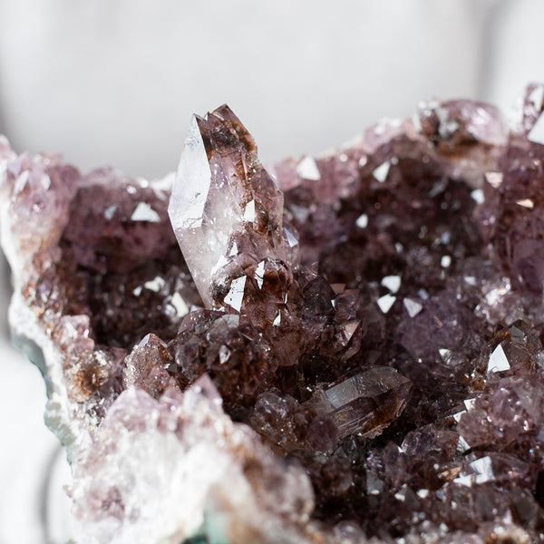 Amethyst Cluster with Cacoxenite