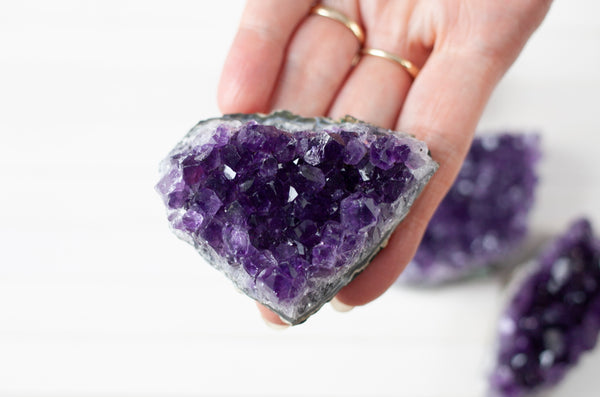 Grade A Amethyst Cluster. Dark Purple Color, 3 Inches