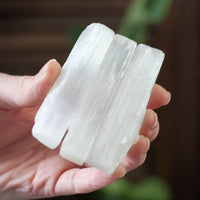 Selenite Rod, 3-Inch Raw Selenite Stick