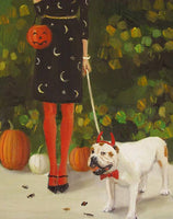 Sophisticated Halloween Decor, Art Print By Janet Hill
