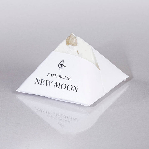 New Moon Bath Bomb with Crystal Inside
