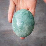 Amazonite Palm Stone, Large, Shimmery, 6.8oz