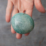 Amazonite Palm Stone, Shimmery, 4oz