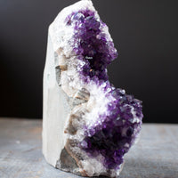 Amethyst Specimen | Unique Standing Geode with Vibrant Purple Crystals, 3lb