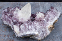Amazing Amethyst with Calcite Crystal Specimen, 3.5lbs